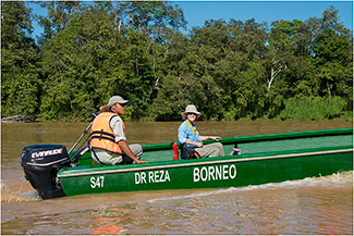 Exploring Kinabatang River, Borneo, 2014 by Dr. Wayne Lynch ©