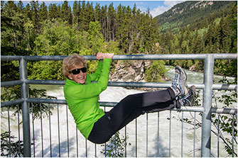 Gymnastic Tourist Rearguard Falls BC 2018 by Dr. Wayne Lynch ©