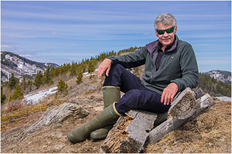 Searching for Whitebark Pine in the Alpine Alberta 2018 by Dr. Wayne Lynch ©